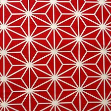 [Precut] 48x54cm Asanoha (Large) Maroon Japanese Cotton Fabric Fat Quarter PC853