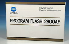 Minolta 2800AF Program Flash Owner's manual manual de instrucciones - (101323)