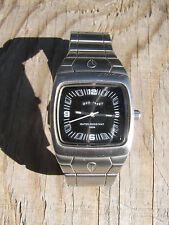 Men's Silver Tone Nixon Watch The Manual Show Don't Tell Water Resist 100m