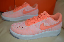New Nike Womens Air Force 1 AF1 Flyknit Low Atomic Pink Shoes 820256-600 sz 8