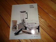 Lexan Polycarbonate Resin GE General Electric Sales Brochure Small Appliances