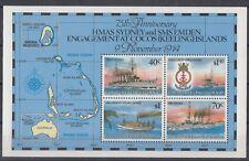 Cocos Islands 1989 Bf 8 Battaglia navale di Cocos MNH