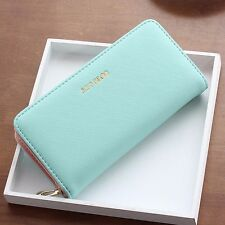 Women Fashion Lady PU Leather Clutch Wallet Long Purse Handbag ID Card Holder