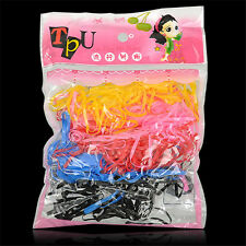 Lots 400pc Rubber Rope Ponytail Holder Elastic Hair Band Ties Braids Plaits New