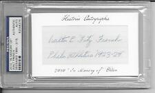 2010 Historic Cuts In Memory Of - WALT FRENCH - Autograph PSA/DNA ATHLETICS 3/15