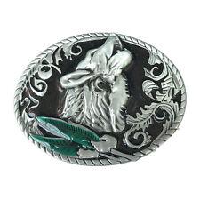 Vintage Rodeo Howling Wolf Belt Buckle Mens Western Cowboy Boucle de ceinture