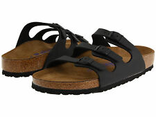 *NEW* FLORIDA 39 M SIZE 8-8.5 US WOMEN {BLACK} SOFT FOOTBED SANDALS BIRKENSTOCK