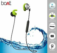 boAt Rockerz 230 In-Ear Bluetooth Headphones with Mic (Silver/Green) lowest ever