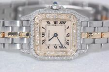 Womens Cartier Panther 18K Gold Diamonds Everywhere