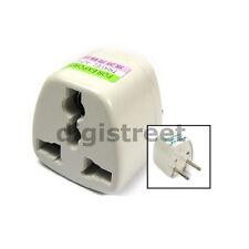 UK/US/AU/HK to EU/European/French AC Mains Power Wall Plug Socket Outlet Adapter