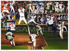 Bill Purdum Signed 1986 New York Mets World Series Lithograph Shea Stadium Mint