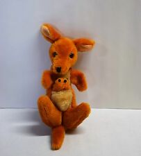"Vintage Kamar Kangaroo w/Joey in Pouch Handmade Korea Plush 8"""