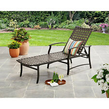 Chaise Lounge Chair Outdoor Wicker Brown Relaxer Yard Pool Patio Furniture NEW