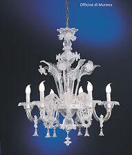 Lampadario di murano -1008/6 Cristallo - Montatura Cromo