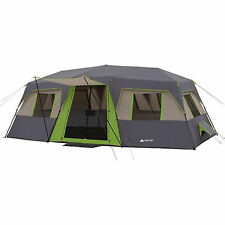 Cabin Tent Instant Camping 12 Person Outdoor Family Hiking Travel Shelter Green