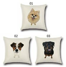 Pillowcase Animals Pattern Cushion Cover Pillows Pet Dog Cute  Color2 Cotton Bid