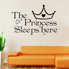 Princess Quote Wall Decal Kids Girls Room Sticker Removable Bedroom Decoration