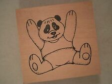 Panda Bear Wood Mounted Rubber Stamp, Teddy Bear, Toy, Kids