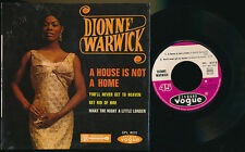 """DIONNE WARWICK EP 7"""" FRANCE A HOIUSE IS NOT A HOME"""