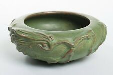 """Peters & Reed Pereco Ware Art Pottery Bowl Green Branch Design by Ferrell 8.5"""""""