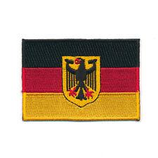 60 x 35 mm Deutschland Flagge Berlin Germany Flag Patch Aufnäher Aufbügler 0626
