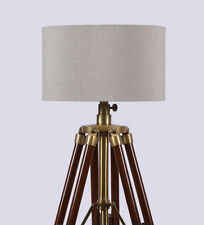 Vintage Photographer HOLLYWOOD Spot Searchlight Tripod Floor Lamp Wooden New