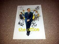 "THE OFFICE US PP CAST X5 SIGNED 12""X8"" INCH POSTER STEVE CARELL RAINN WILSON"