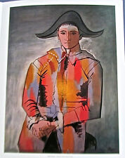 Pablo Picasso Poster  Reprint of  Harlequin with Folded Hands Poster 15.5x12