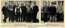 Schweden aus Seenot gerettet: Die Berg-Dievenower Schiffer * Bilddokument 1902