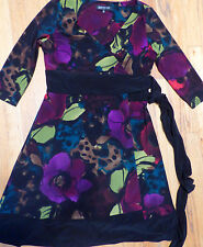 ** JONES NEW YORK  ** Wrap Dress for Cooler Weather Winter Colors Petite 10P