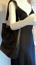 LONGCHAMP Large Black Leather Veau Foulonne NS Tote Handbag   Excellent!