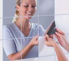 Spiegelfolie Quadrat Sticker 16 Stück  14,5 x 14,5 cm Spiegel Basteln Hobby Deko