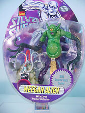"RARE~ Marvel SILVER SURFER ""MEEGAN ALIEN"" Action Figure 1997 MOC~ Pre-Legends"