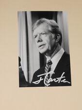 US President JIMMY CARTER Signed 4x6 Photo AUTOGRAPH 1E