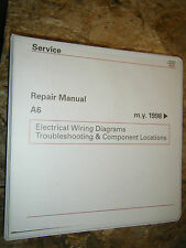 1998 AUDI A6 ORIGINAL FACTORY WIRING DIAGRAMS MANUAL SERVICE SHOP REPAIR