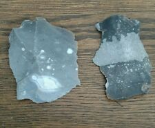 2 Large English Flints for Bushcraft Survival Rendezvous Primitive Fire Making