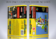 SUPER MARIO WORLD. PAL. Box/Case. Super Nintendo. BOX + COVER. (NO GAME).
