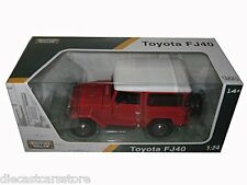 MOTORMAX  TOYOTA FJ40 FJ 40 LAND CRUISER 1/24 DIECAST MODEL CAR RED 79323