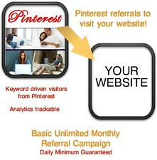 Website Visitors- 5 days/2000 Pinterest Referrals/Visitors to your website