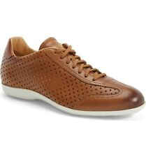 $535.00 Santoni 'Tailor' Perforated Leather Sneaker  ITALIAN LEATHER Shoes 9.5