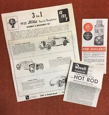 AMT 1932 Ford Roadster 3 In 1 Model Car Instructions Revell Hot Rod (7024)