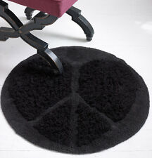"""Aeropostale Bethany Mota Motavator Heart Peace Round Indoor Rug, Black, 30"""""""