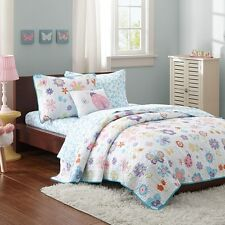Butterfly & Ladybug Girls Full Quilt, Shams, Sheets & Toss Pillow (8 Pc Bedding)