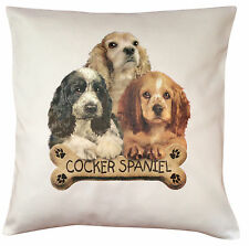 Cocker Spaniel Puppy Breed of Dog Cotton Cushion Cover - Perfect Gift