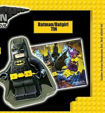 McDonald's happy meal toys LEGO BATMAN MOVIE +Batman/Batgirl TIN+ ©McD 2017