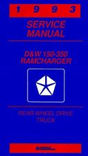 1993 Dodge Ram Truck Ramcharger Shop Service Repair Manual