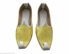 UK 8 EU 41 TRADITIONAL HANDMADE MEN SHOES JUTI YELLOW KHUSSA NEW FOR SALE