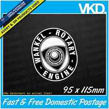 Wankel Rotary Engine Sticker/ Decal - 12B 13B RX2 RX3 RX4 RX7 RX8 R100 JDM VINYL