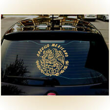 """Orgullo Mexicano Proud Mexican Mexico Eagle LARGE 13""""x13""""  GOLD Decal Sticker"""