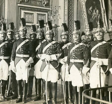 GUARDS OF THE REPUBLIC PALACE OF VERSAILLES PARIS FRANCE STEREOVIEW TREATY SIGN